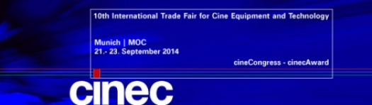 cinec 2014: Be part of the International Trade Fair for Cine Equipment and Technology!