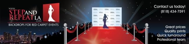 Step and Repeat LA Nails it with Custom Backdrop