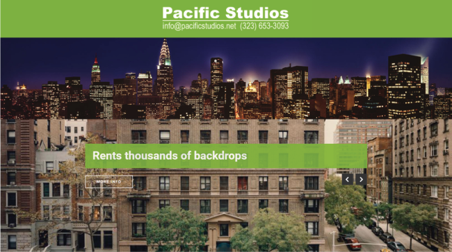 Create Custom Backdrops with Pacific Studios New Website.