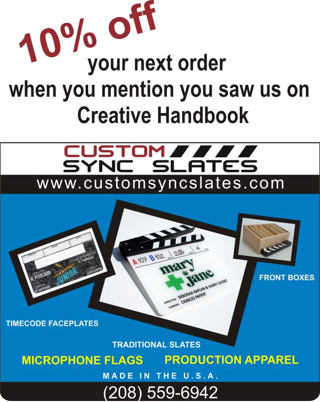 Custom Sync Slates provides the finest, most customizable sync slates in the industry!