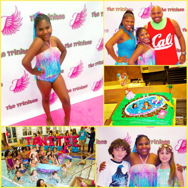 Step and Repeat LA Creates Backdrop for Trinitee Stokes\'s Birthday Pool Party