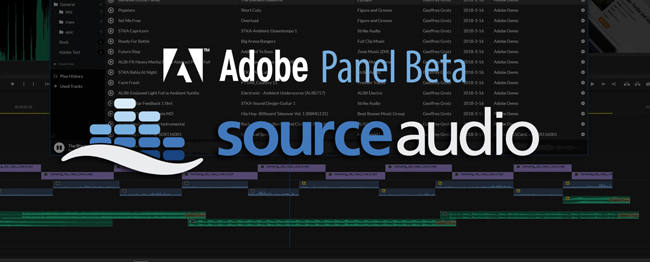 SOURCEAUDIO ACCESSES PREMIERE DATA W/OUT LEAVING ADOBE