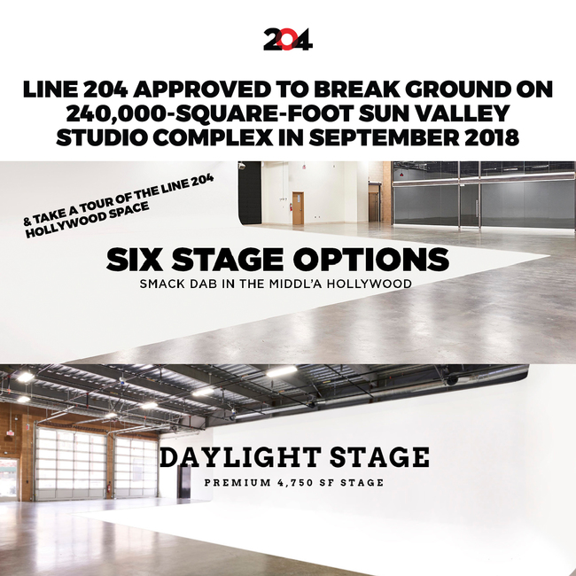 LINE 204 TO BREAK GROUND ON STUDIO COMPLEX IN SEPTEMBER!