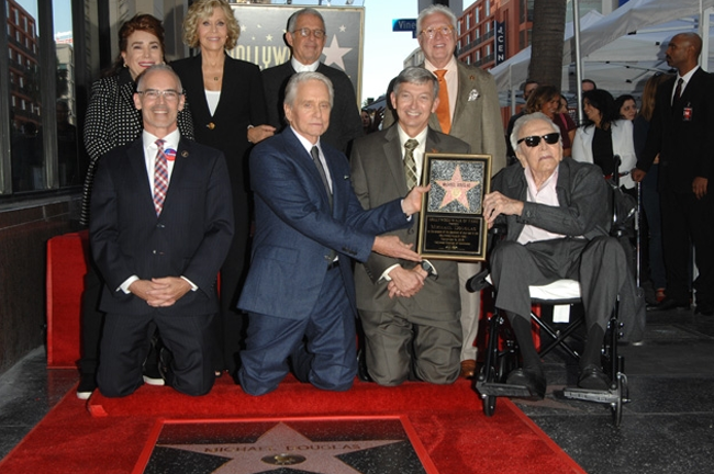 Michael Douglas Inducted to the Walk of Fame on November 6