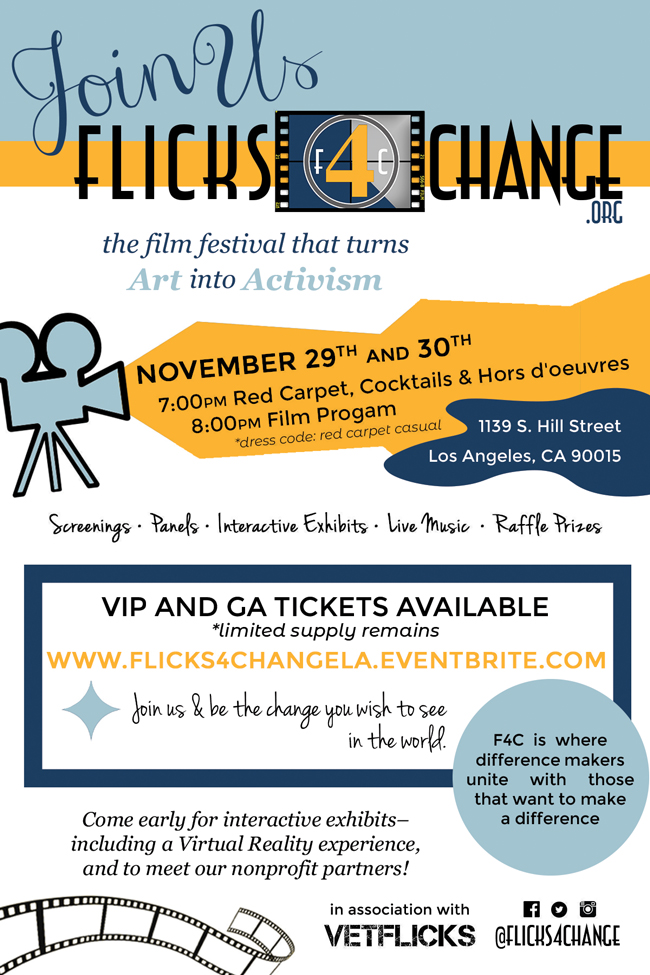 Flicks4Change 3rd Annual Film Festival Turns Socially Conscious