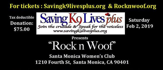 "Saving K9 Lives Plus: Masquerade Concert, ""Rock n Woof"""