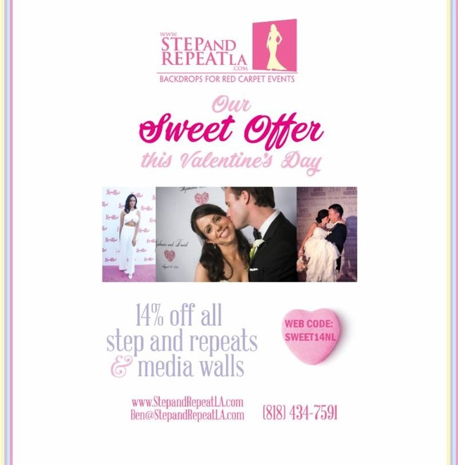 "A Valentine\'s Day discount for our ""Sweet"" customers!"