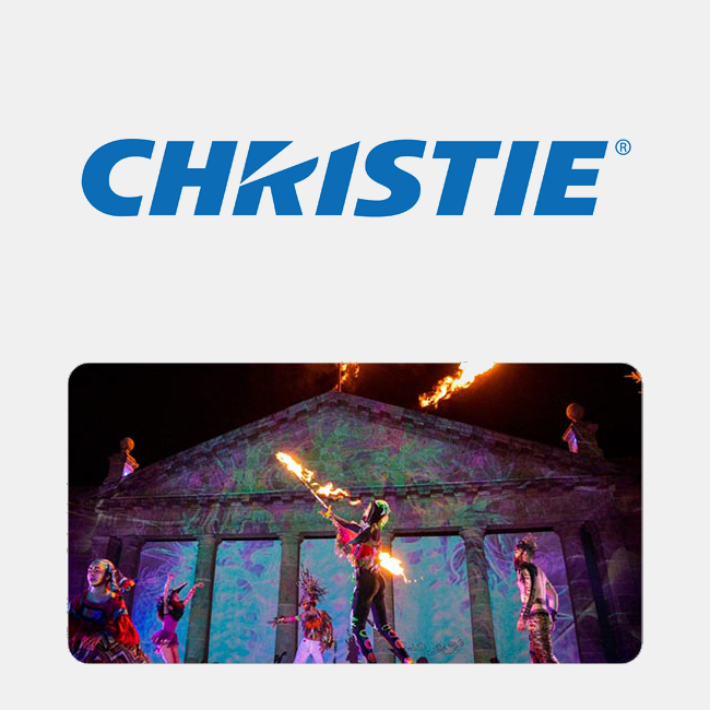Christie technology powers the visual wow factor...