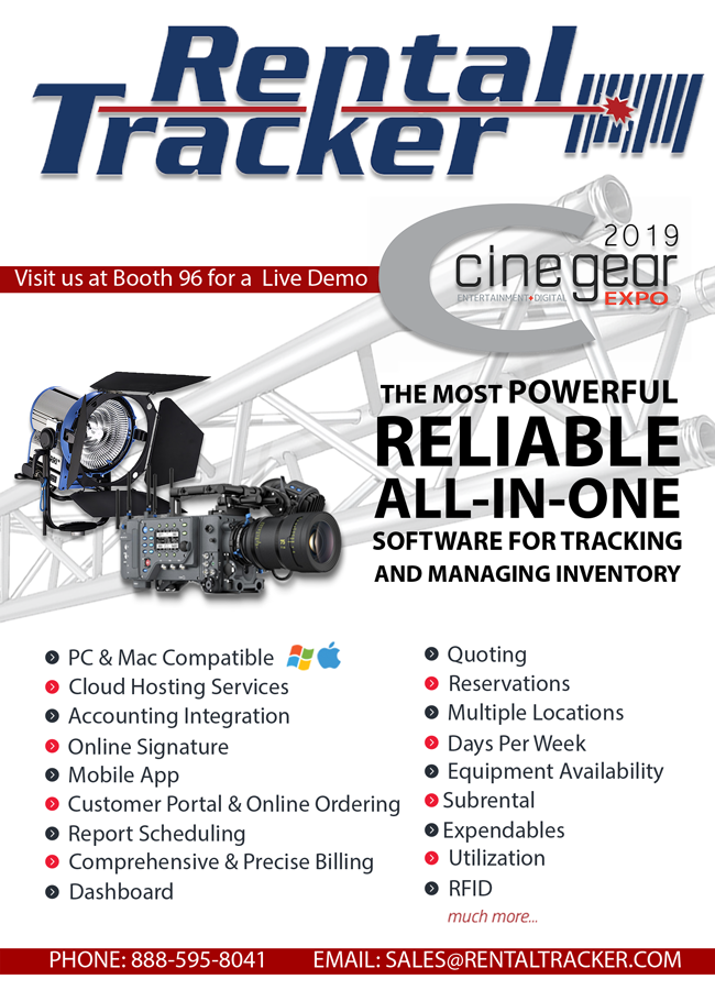 Learn More About Rental Tracker at CineGear!