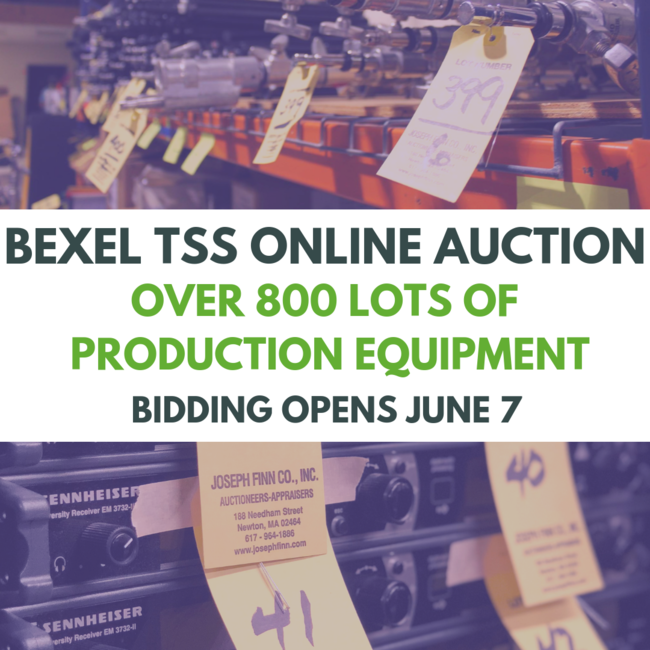 Bexel TSS Online-Only Auction of Broadcast Equipment