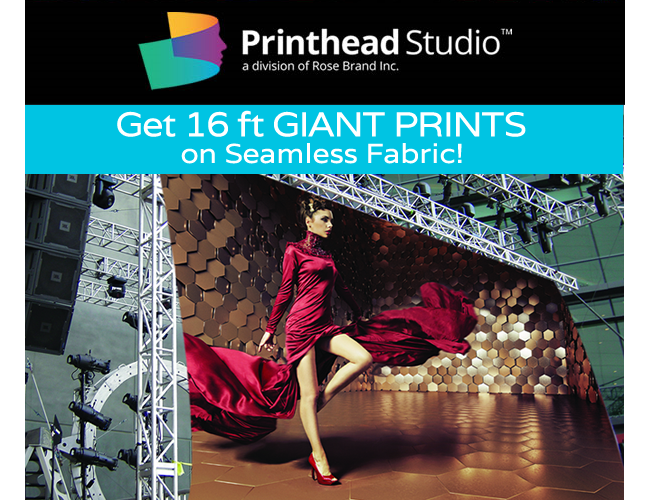 Get 16 ft GIANT PRINTS on Seamless Fabric at Rose Brand!