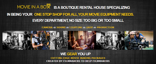 MOVIE IN A BOX: ALL YOUR GEAR ON ONE TRUCK, DELIVERED TO SET