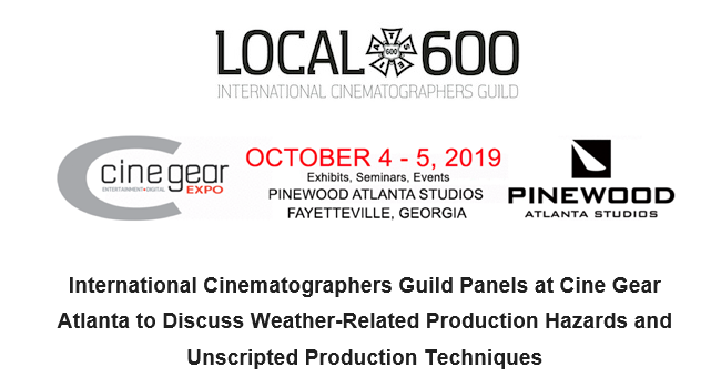 International Cinematographers Guild Panels at Cine Gear