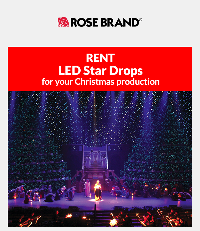 Rent LED Star Drops for your Christmas Production