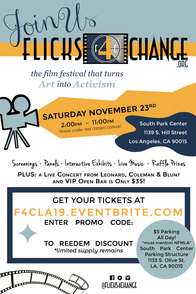 4th Annual Flicks4Change Film Festival...