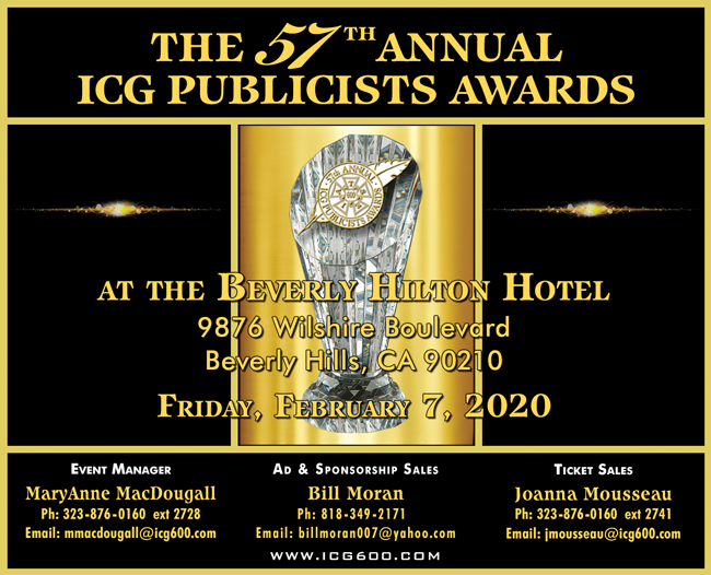TELEVISION PUBLICITY CAMPAIGN NOMINATIONS ANNOUNCED FOR THE 57th ANNUAL ICG PUBLICISTS AWARDS