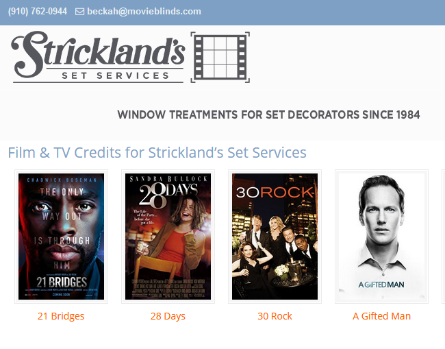 Meet the Strickland Movie Blinds Team