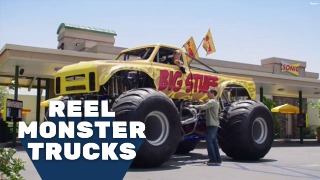 Reel Monster Trucks in Sonic\'s Drive-In Biggie Cheese TV Commercial
