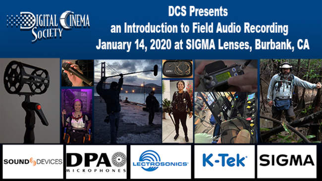 DCS PRESENTS INTRODUCTION TO CINEMA AUDIO FIELD RECORDING - January 14th