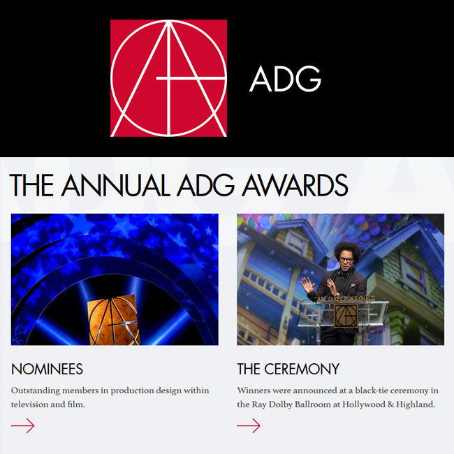 NOMINATIONS ANNOUNCED FOR ART DIRECTORS GUILD 24th ANNUAL EXCELLENCE IN PRODUCTION DESIGN AWARDS