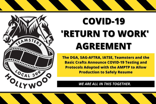 Announcing COVID-19 Testing and Protocols Adopted with the AMPTP to Allow Production to Resume Safely