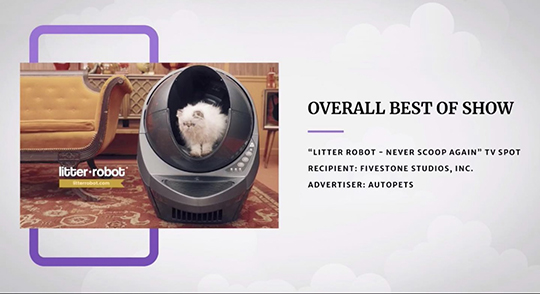 "AAF Nashville Announces ""Litter-Robot"" Commercial as Overall Best Of Show"