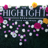 Custom Hedge Wall by Step and Repeat LA at the Highlight Room.