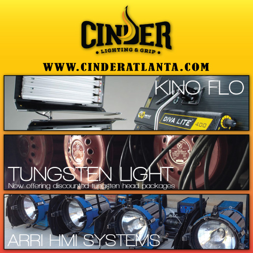 CINDER LIGHTING<br />&amp; GRIP ATLANTA